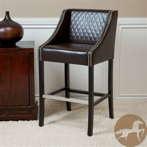 christopher knight bar stool christopher knight home milano brown quilted bonded