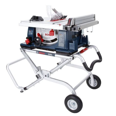 bosch bench saw bosch 15 amp corded 10 in worksite table saw with gravity rise wheeled stand 4100 09