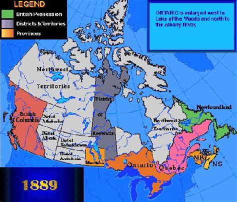 canadian map before confederation canada in 1871 columbia joins canada as the 6th p
