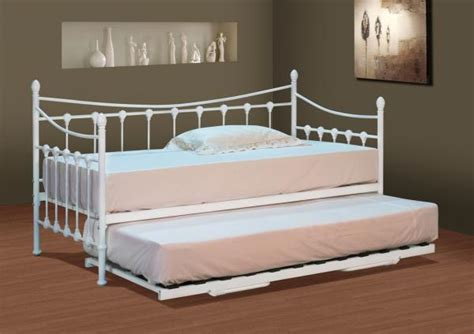 Daybed With Trundle And Mattress Stunning White Metal Day Bed With Or Without Trundle And Mattress Options Ebay