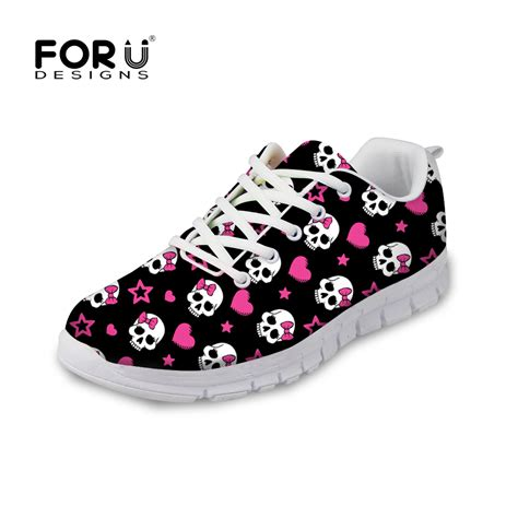 flat sport shoes cn brand breathble air cushion shoes skull trainers