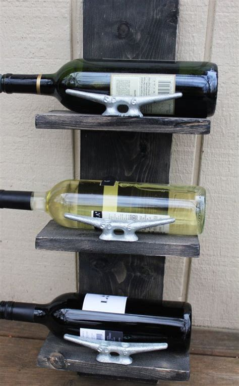 boat wine rack small wine rack with boat cleats handcrafted nautical