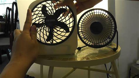 battery operated box fan o2 cool 5 quot portable battery box fan