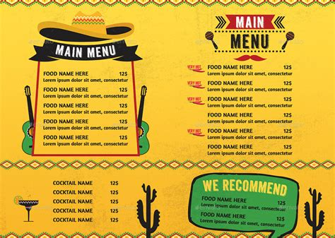 mexican food menu by d s graphicriver