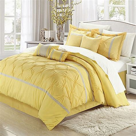 yellow king comforter buy chic home valde rose 8 piece king comforter set in