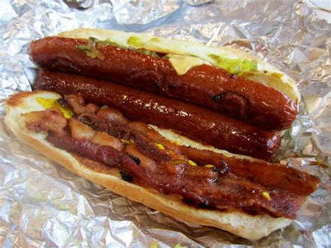 love    hot dog  split grilled picture