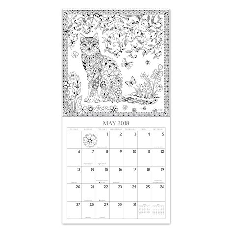 2018 coloring calendar monthly planner books 2018 garden gallery coloring calendar kit calendar