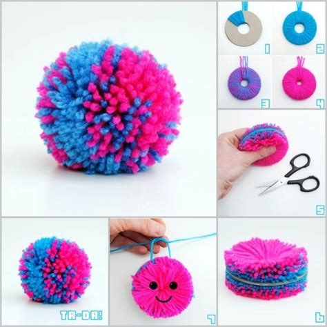 yarn craft projects easy diy yarn pompom tutorial easy diy projects diy tag