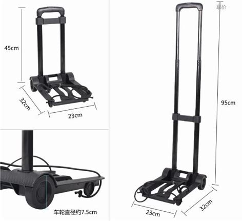 Multifunction Folded Trolley Troli Serbaguna High Quality 1 trolley car portable folding luggage cart shopping cart