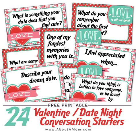 starters for valentines day s day date conversation starters printable