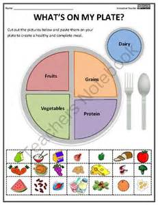 nutritional health worksheet whats on my plate from