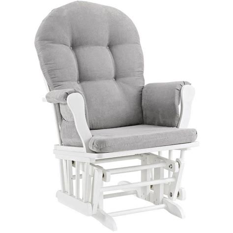 grey and white glider and ottoman glider and ottoman set white finish gray cushions nursery