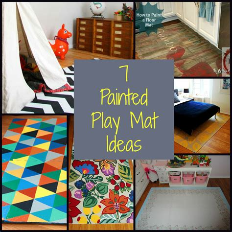 diy picture matting 7 painted play mat ideas diy for life