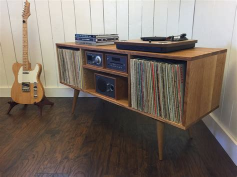 record player cabinet plans mid century modern turntable stand record player cabinet