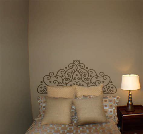 headboard stencils for walls iron dot headboard beautiful wall decals