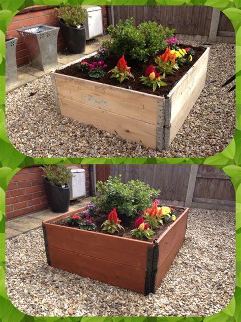 raised flower bed easy raised flower bed before after landscaping pinterest