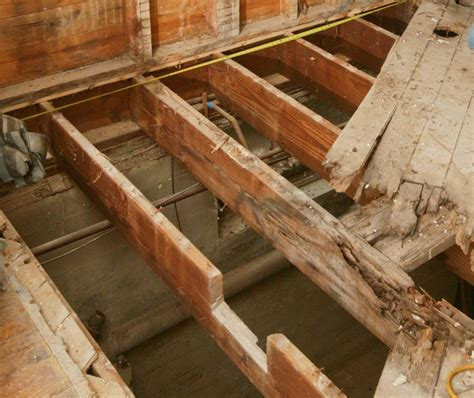 Repair Floor Joist How To Repair A Butchered Floor Joist Construction Building Pinte