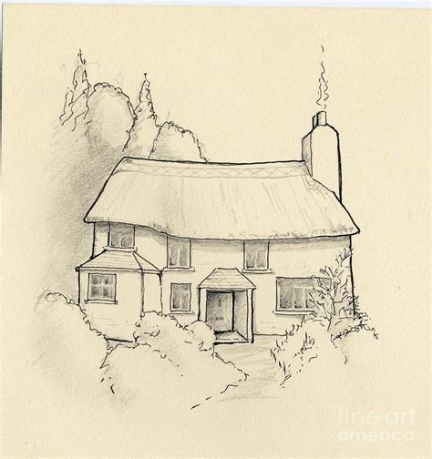 bungalow house sketch design cottage drawing simple cottage drawings drawings of cottages mexzhouse com