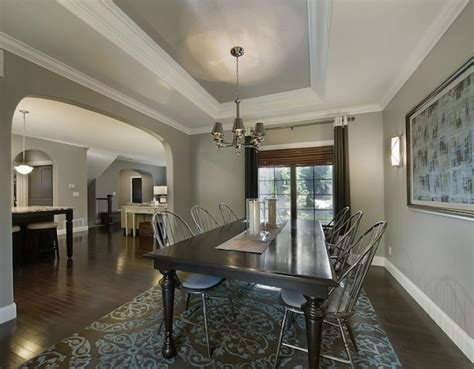 dining room ceiling creating the illusion of space with ceiling color
