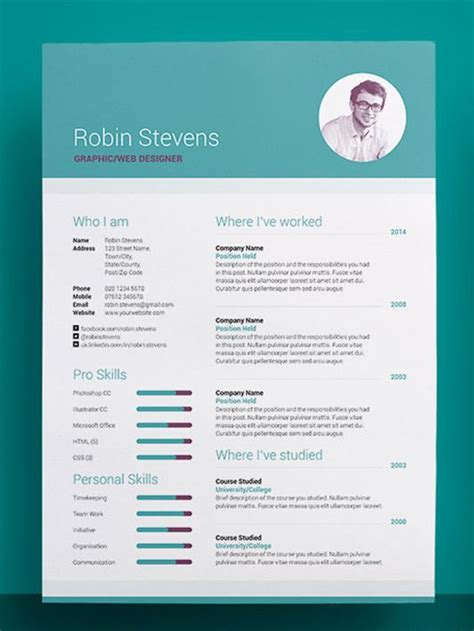 Free Awesome Resume Templates by Creative Resume Templates Obfuscata