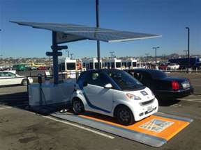 Electric Vehicle Battery Future Self Contained Solar Carport With Battery Electric Car