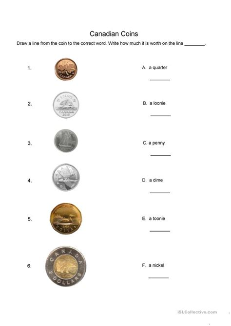 Coin Worksheets by 13 Free Esl Coins Worksheets
