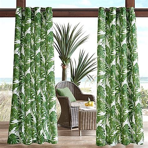palm curtains madison park everett printed palm 3m scotchgard grommet