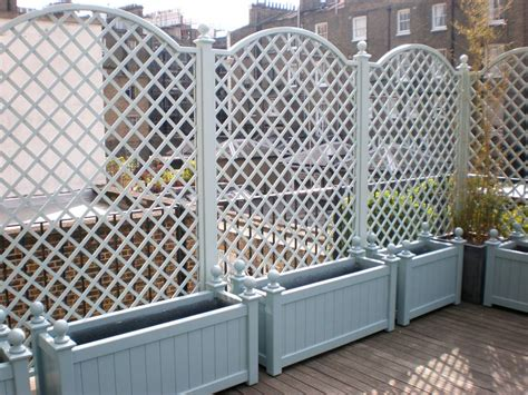 Metal Trellis Panels Wooden Garden Planter Boxes Contemporary And Traditional