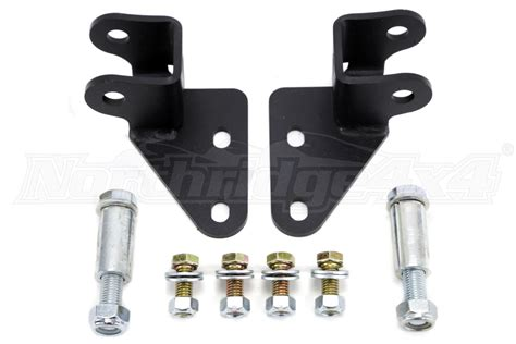jeep relocation brackets jeep jk jks front shock relocation bracket 2in jeep