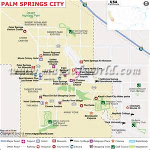 palm springs map of the homes