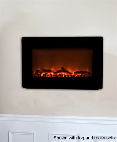 sense black wall mounted electric fireplace with heater