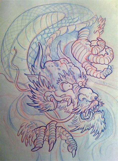 japanese tattoo filler japanese dragon filler by michaelbrito on deviantart