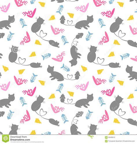 cute cartoon pattern cat rat seamless pattern stock vector illustration of