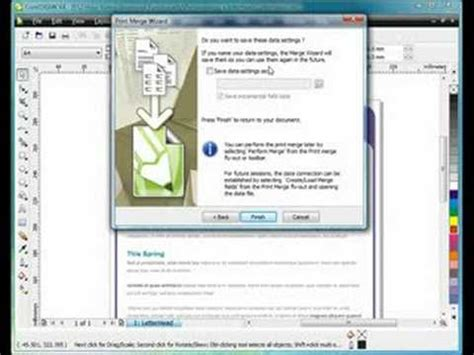 tutorial corel draw x4 corel draw x4 working with print merge youtube
