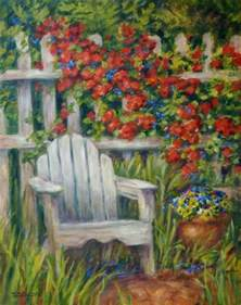 Flower Garden Paintings Daily Painting Projects Garden Seat Painting Landscape Garden Flowers Adirondack Chair