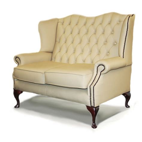 Sofa Wing Klasik classic wing traditional handmade leather 2 seater
