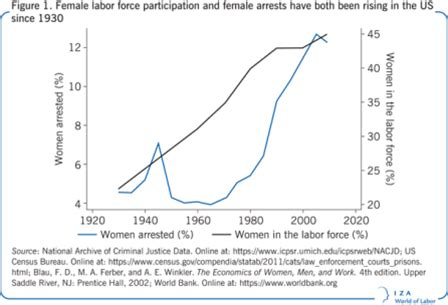 pattern theory of crime explaining increasing female crime in the later half of