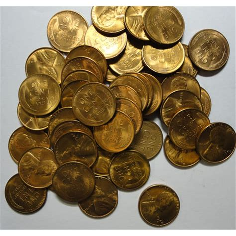 penny s 1948s roll 50 nice bu lincoln pennys gs bid 120