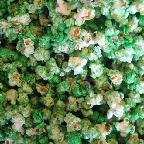 color popcorn green kettle corn