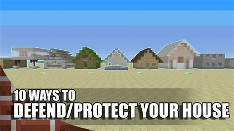 how to protect your house in minecraft 10 ways to defend protect your house in minecraft youtube
