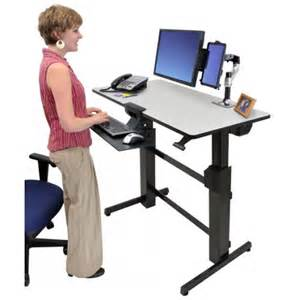 workfit d bureau assis debout ergotron gris
