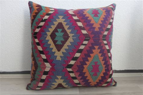 Pillow 28x28 by Purple Pillow Blue Throw Pillow Motif Pillow Pillow Large