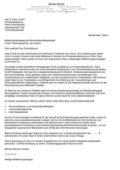 Bewerbung Anschreiben Wissenschaftlicher Mitarbeiter Bewerbung Personalsachbearbeiter Ungek 252 Ndigt Berufserfahrung Sofort