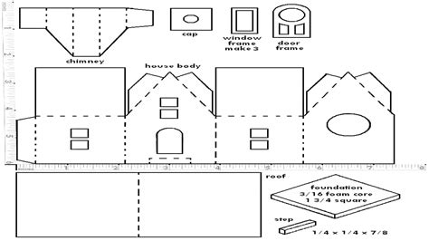 house pattern printable for putz houses patterns patterns kid