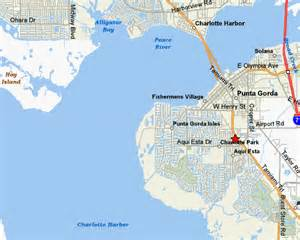 where is punta gorda florida on the map county map featuring punta gorda and port