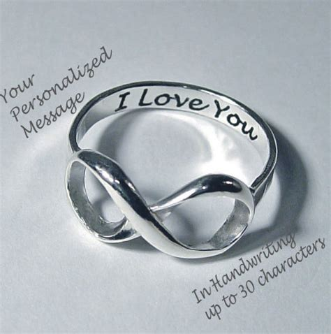 infinity ring infinity rings wedding rings personalized
