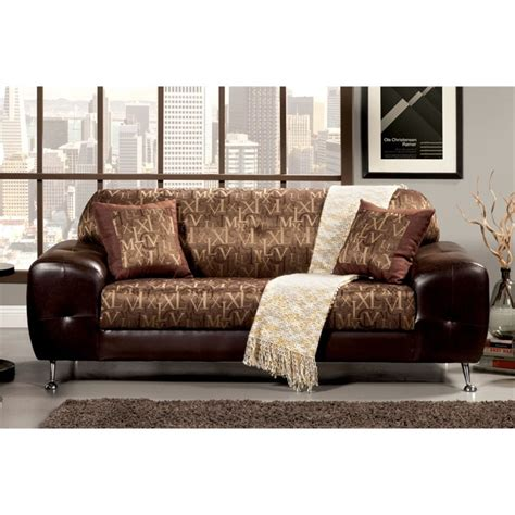 Gold Leather Sofa Furniture Of America Cowell Leather Sofa In Gold Idf 6064 Sf