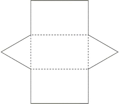 net pattern for square prism printable surface area nets trials ireland