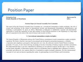 base delegate course position paper