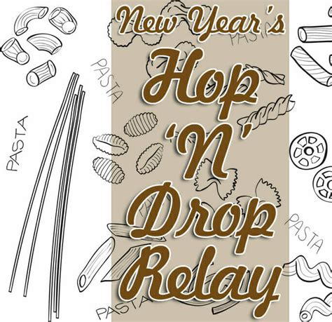 new year sunday new year s sunday school pasta hop quot n drop relay